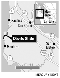 Devil's Slide map
