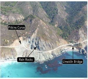 Pitkins Curve, Rain Rocks - Location Photo